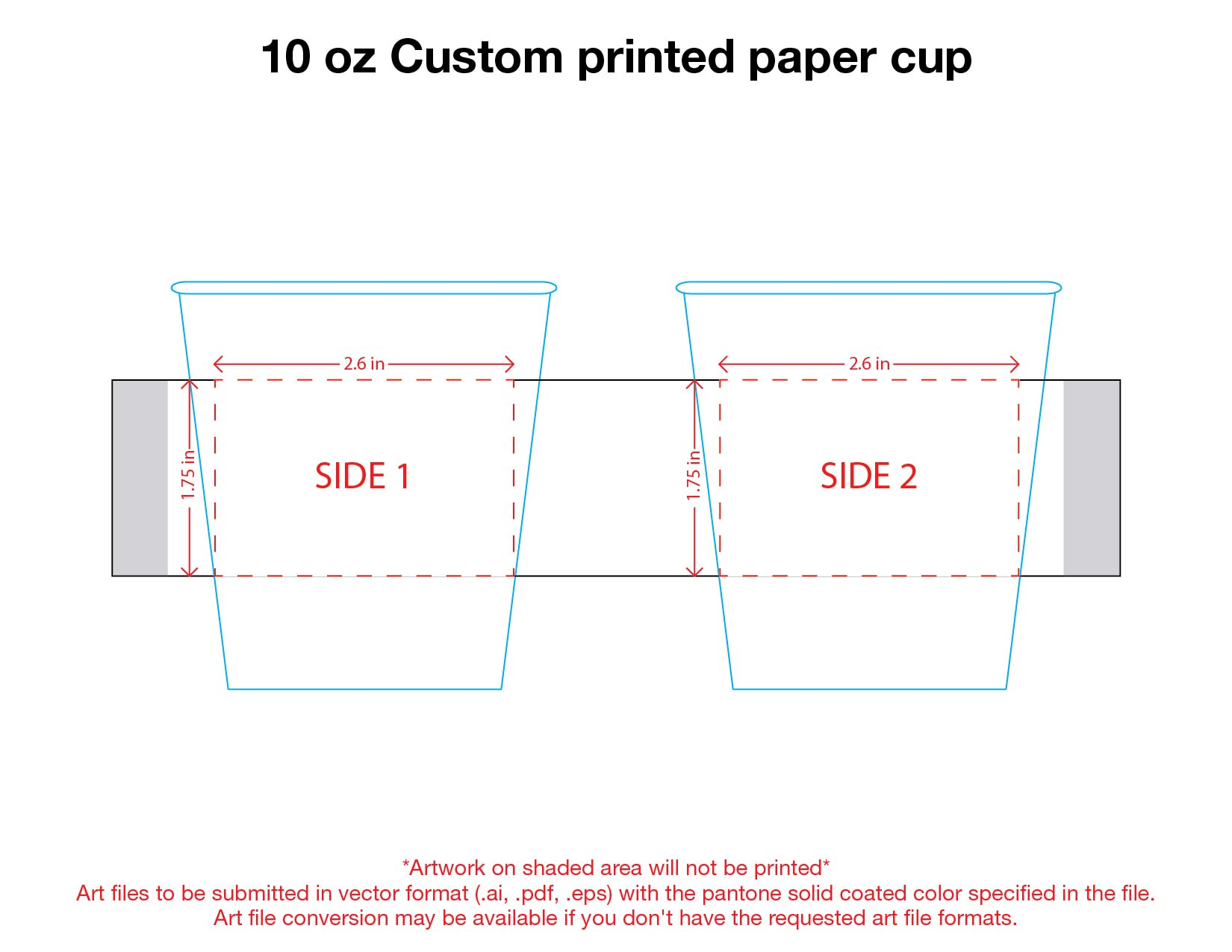 10 oz. Custom Printed Recyclable Paper